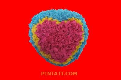 Пинята Сърце с цветчета_1