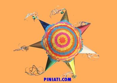 Пинята Звезда с 7 лъча – с лентички