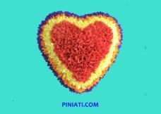 Пинята Сърце с цветчета-3