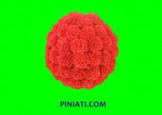 Пинята Букет цветя червени