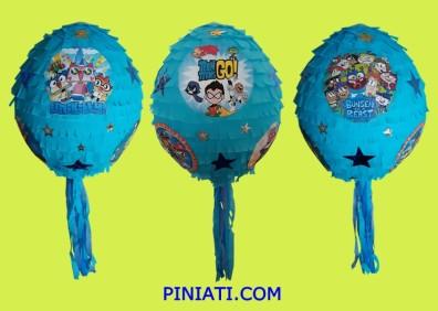 Пинята Микс от любими анимационни герои Нинджаго, Костенурките нинджа, Миньон, Юникити, Бънсен Звяра, Малките титани.