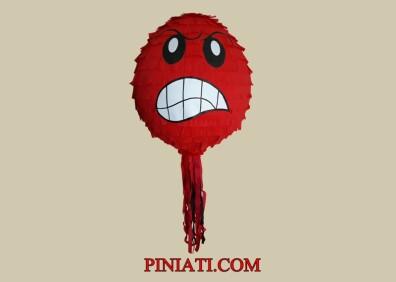 Пинята Emoji red (Емоджи Сърдитко)