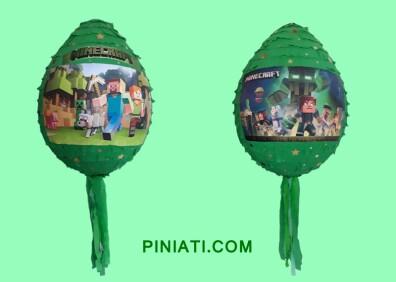 Пинята Minecraft-в зелено2
