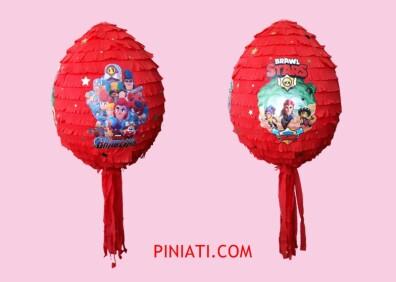 Пинята Brawl Stars-червен балон