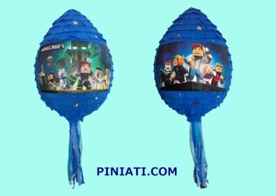 Пинята Minecraft-в синьо1